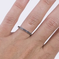Gold ring with black diamonds - Diamond rings