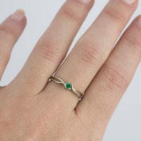 RING WHITE GOLD EMERALD - EMERALD RINGS - RINGS