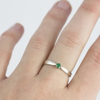 Gold emerald ring - White gold rings