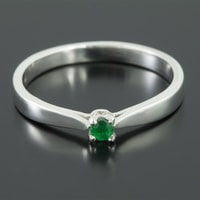 Sterling silver emerald ring - Sterling Silver Rings