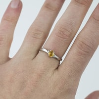 A gold ring with yellow sapphire - Sapphire Rings