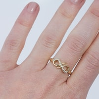 "GOLD RING WITH DIAMONDS ""INFINITY"" - DIAMOND RINGS - RINGS"