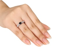 BLACK AND WHITE DIAMOND RING IN GOLD - DIAMOND RINGS - RINGS