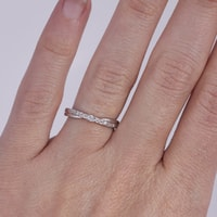 DIAMOND ENGAGEMENT RING FROM SILVER - DIAMOND RINGS - RINGS