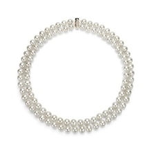 Double-row pearl necklace - Pearl necklace