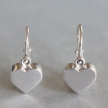 SILVER EARRINGS CHILDREN'S HEARTS - JEWELLERY BY GEMSTONE