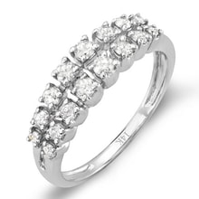 WEDDING RINGS IN WHITE GOLD SET WITH DIAMONDS - WHITE GOLD RINGS - RINGS