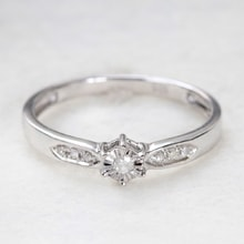 ENGAGEMENT SILVER RING WITH DIAMONDS - STERLING SILVER RINGS - RINGS