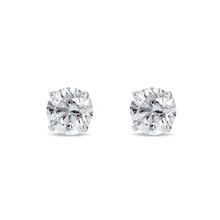 Diamond earrings, 0.33ct with gold - Stud earrings
