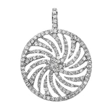 GOLDEN CIRCULAR PENDANT WITH MANY DIAMONDS - DIAMOND PENDANTS - PENDANTS