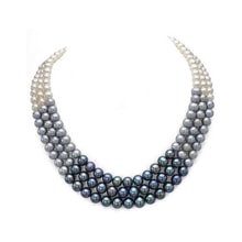 Tri-color pearl necklace - Pearl necklace