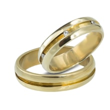 Gold wedding rings with diamonds - Gold wedding rings
