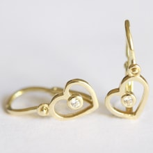 GOLD EARRINGS CHILDREN'S HEARTS - GOLD EARRINGS - EARRINGS