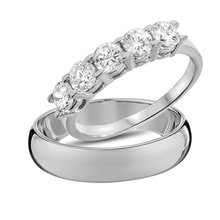 Wedding diamond rings in white gold - Diamond Wedding Rings