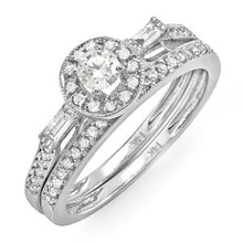 GOLDEN RING WITH DIAMONDS - WHITE GOLD RINGS - RINGS