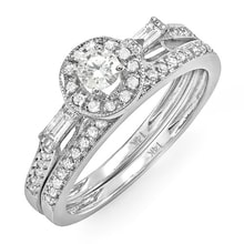 WHITE GOLD RING WITH DIAMONDS - WHITE GOLD RINGS - RINGS