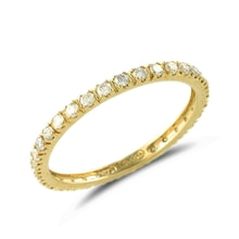 Golden wedding ring with diamonds - Women's wedding rings
