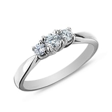 Diamond Engagement Ring in White Gold - Engagement Rings