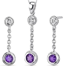 SET OF JEWELERY WITH AMETHYSTS, SILVER - JEWELLERY SALE