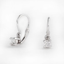 Children earrings with diamonds - Diamond earrings