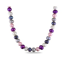 Colored pearl necklace - Pearl necklace