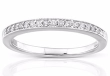A DIAMOND RING IN WHITE GOLD - WOMEN'S WEDDING RINGS - WEDDING RINGS WITH GEMSTONES