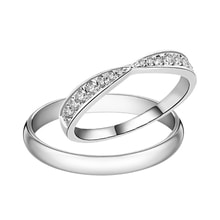 Platinum wedding rings decorated with diamonds - White Gold Wedding Rings