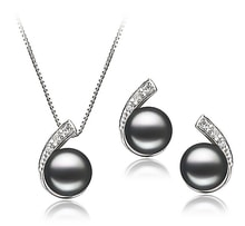 THE SILVER SET OF PEARL EARRINGS AND NECKLACE - PEARL SETS - PEARLS
