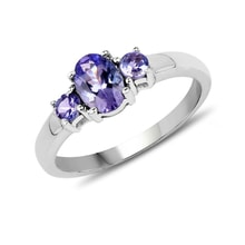 Sterling silver ring with tanzanite - Engagement rings with gemstones
