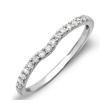 White gold diamond ring - Women's wedding rings