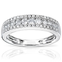 ANNIVERSARY DIAMOND RING - WHITE GOLD RINGS - RINGS