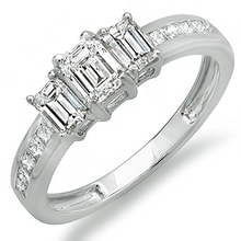 RING OF WHITE GOLD WITH DIAMONDS - DIAMOND ENGAGEMENT RINGS - ENGAGEMENT RINGS WITH GEMSTONES