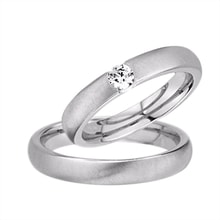 Ring made of white gold with diamonds - White gold wedding rings