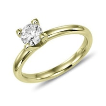 Diamond ring, gold - Brilliant engagement rings