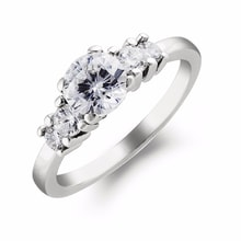 EXCLUSIVE DIAMOND ENGAGEMENT RING - DIAMOND ENGAGEMENT RINGS - ENGAGEMENT RINGS WITH GEMSTONES