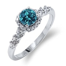 SILVER RING DECORATED WITH TOPAZ - TOPAZ RINGS - RINGS