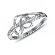 Diamond engagement ring in silver - Fine Jewellery