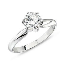 Diamond Engagement Ring in White Gold - Brilliant engagement rings