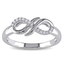 DIAMOND RING WITH SIGN OF INFINITY - DIAMOND RINGS - RINGS