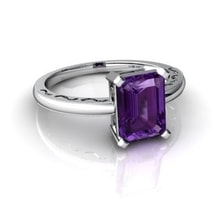 WHITE GOLD WITH AMETHYST - AMETHYST RINGS - RINGS
