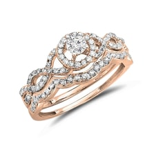 Rose gold engagement ring with diamonds - Jewellery by Klenota