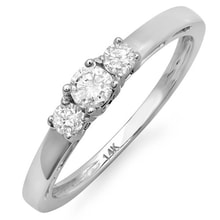 ENGAGEMENT RING WITH DIAMONDS IN WHITE GOLD - ENGAGEMENT RINGS WITH GEMSTONES