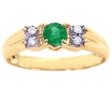 RUBY SILVER RING WITH DIAMONDS - EMERALD RINGS - RINGS
