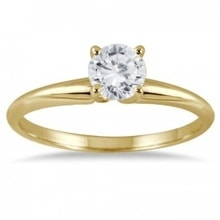 GOLD RING WITH DIAMOND - WHITE GOLD RINGS - RINGS