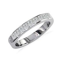 WEDDING RING WITH DIAMONDS IN WHITE GOLD - DIAMOND RINGS - RINGS