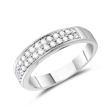 Men's diamond ring in 14kt white gold - Men's Rings