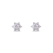 Luxury diamond earrings made of 18K gold - Diamond Earrings