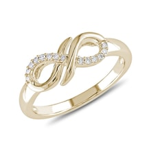 Diamond infinity ring in 14kt gold - Diamond Rings
