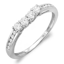 WEDDING RING WITH DIAMONDS IN WHITE GOLD - WHITE GOLD RINGS - RINGS