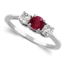 RING WITH RUBY ​​AND DIAMONDS - ENGAGEMENT RINGS WITH GEMSTONES